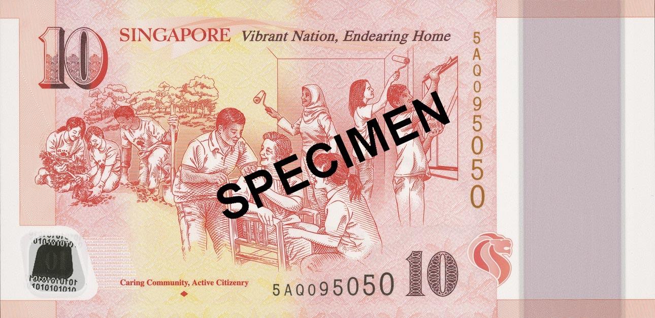 UNC Set of Singapore $50 polymer Commemorative banknotes 2015 /& 5 x $10 SG50